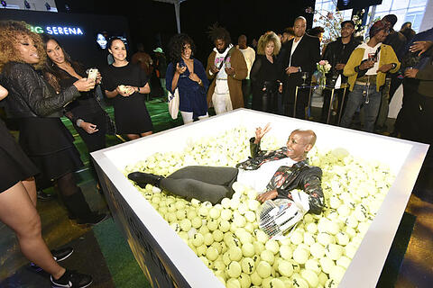 tennis inspired ball pit. Photo- Eugene GologurskyGetty Images for HBO http-sumo.lyYy5i