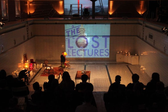 the lost lectures in a converted Berlin swimming pool