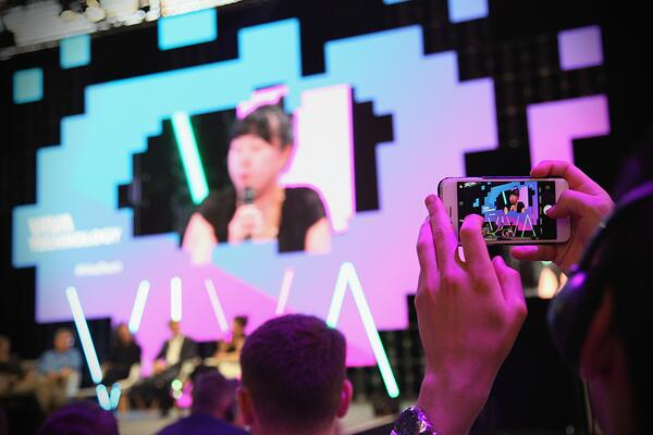 Viva Tech's organizers opted for pink, purple and light blue to design their event experience. This was also reflected in the branded app and engagement platform provided by Swapcard for this trade show and expo