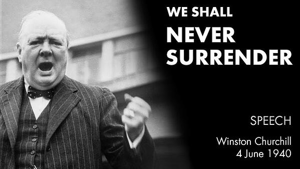 winston churchill speech 1940