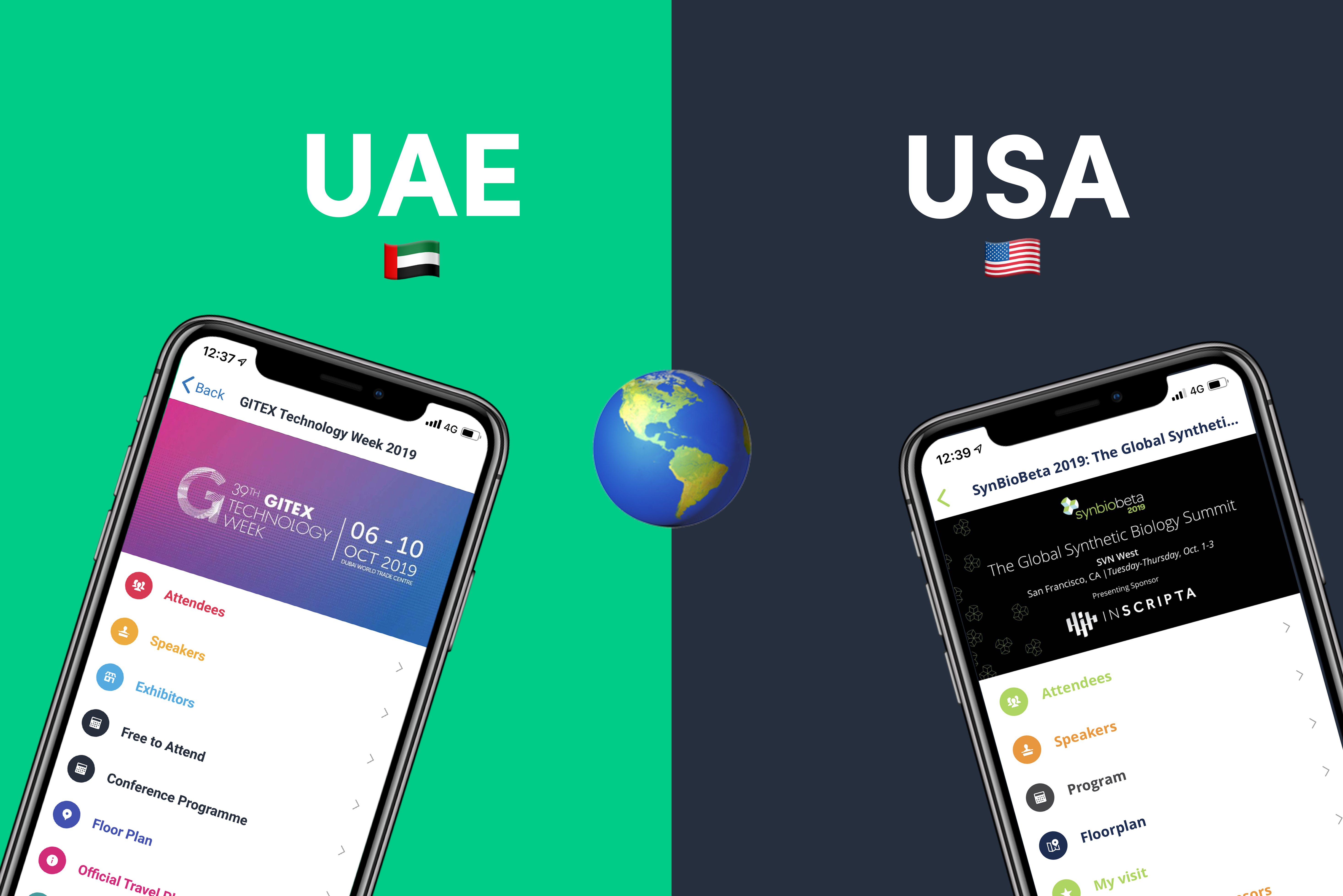 Event App Dubai & Seattle