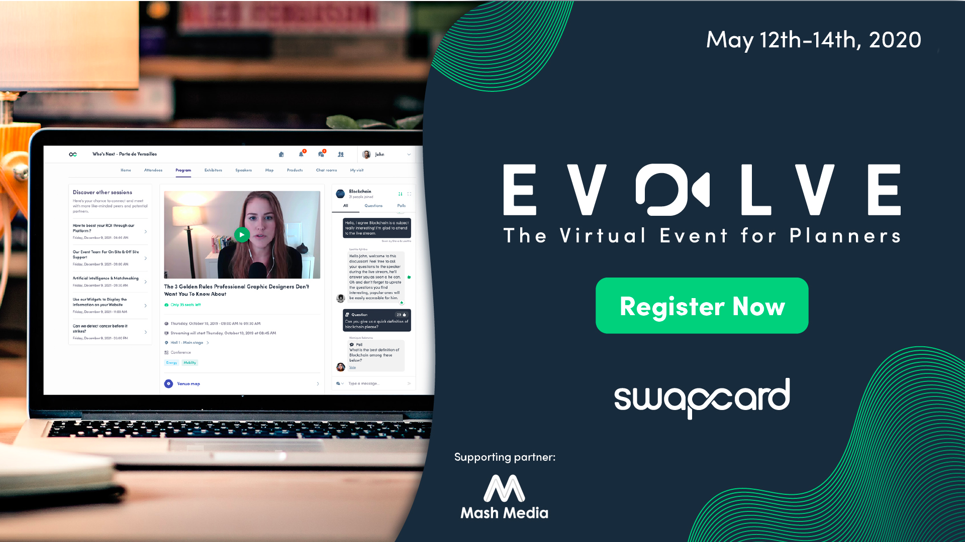 Swapcard is launching Evolve: The Virtual Event for Organizers